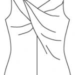 Twisted Shirt Zeichnung